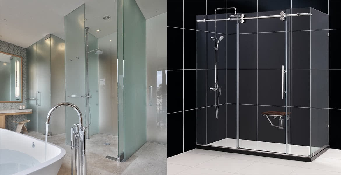 Shower screens and shower booths Perth