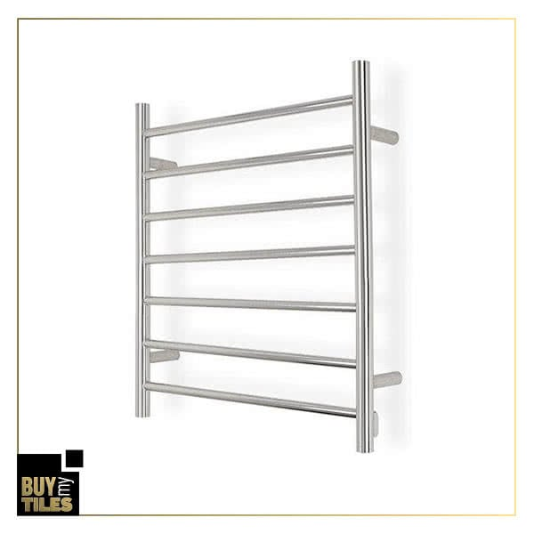 Heated towel rails round finish