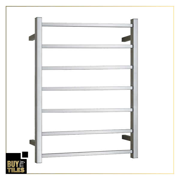 Heated towel rails square finish