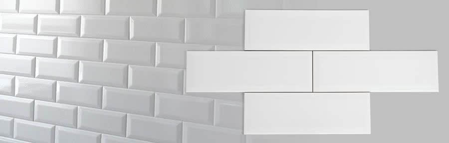 Subway Tile 100 x 200mm (and 100 x 300) High Gloss-White
