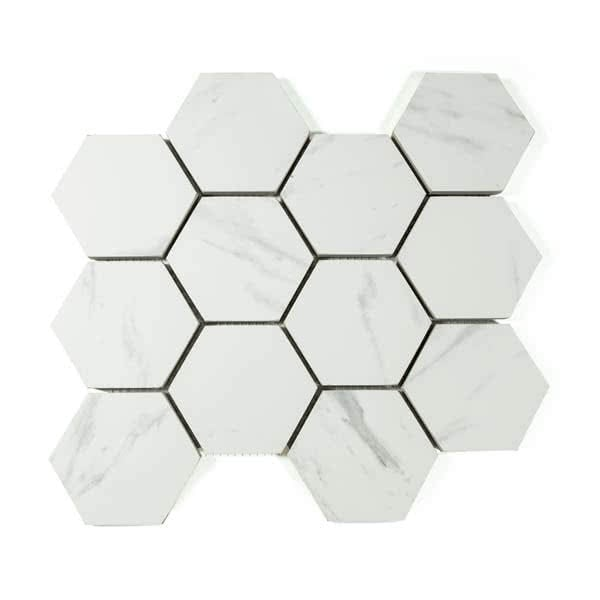 Hexagon mosaic tiles perth